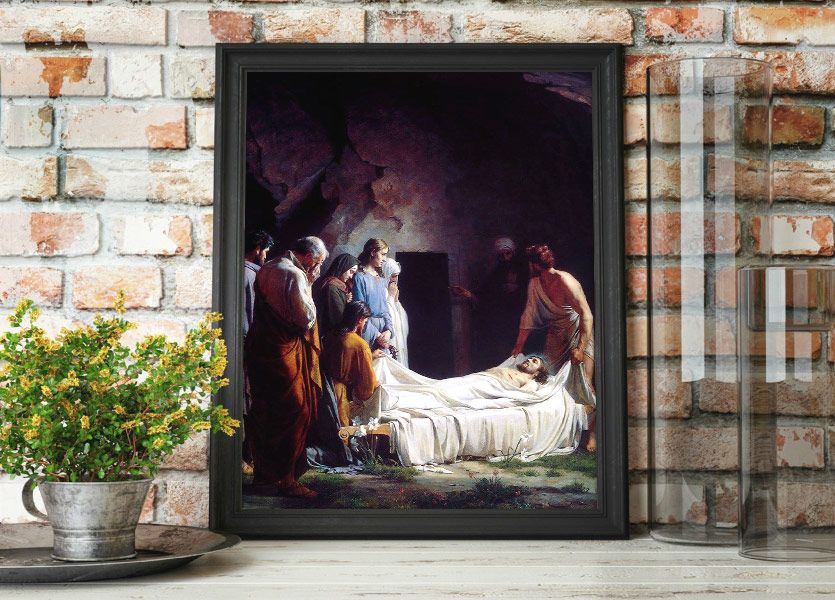 Burial of Christ – Painting by Carl Bloch Mockup
