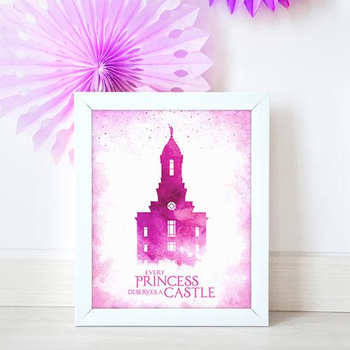 Cedar City Temple – Princess Castle Mockup