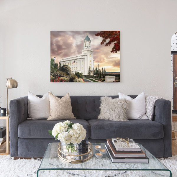 Cedar City Temple – Sunset Painting Mockup