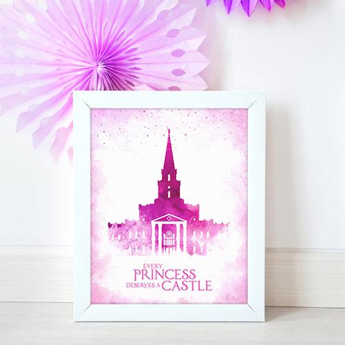 Houston Temple – Princess Castle Mockup
