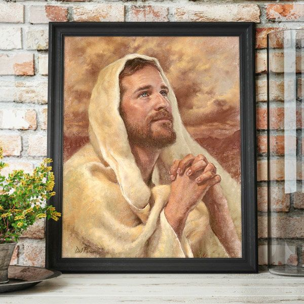 I have Prayed For Thee – Painting by Del Parson Mockup