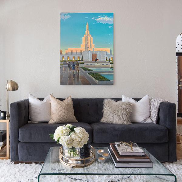 Idaho Falls Temple – Fine Art Historical Painting Mockup