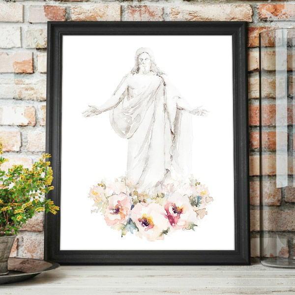 Jesus Christ – Cristus Floral Watercolor Painting Mockup
