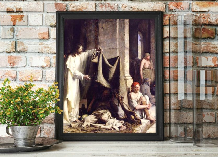 Christ Healing the Sick – Painting by Carl Bloch Mockup