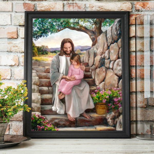 Jesus Christ – His Hands – Painting Mockup