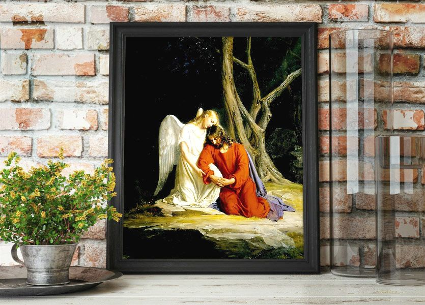 Christ in Gethsemane – Painting by Carl Bloch Mockup
