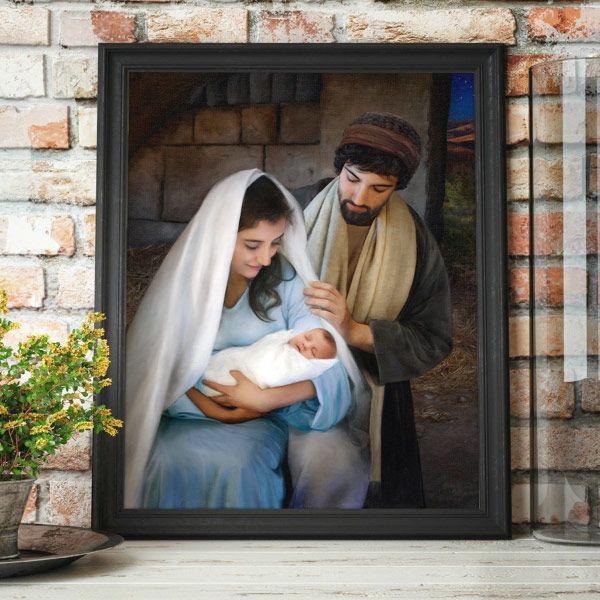 Jesus Christ – Nativity Painting Vertical Mockup