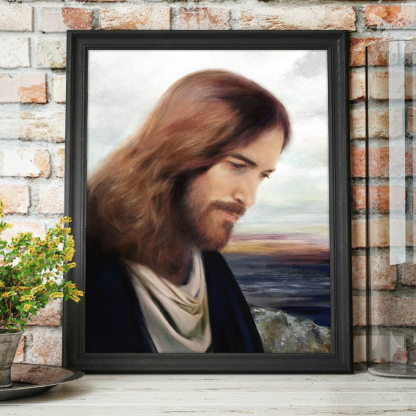 Jesus Christ – On The Shores Of Galilee – Painting Mockup