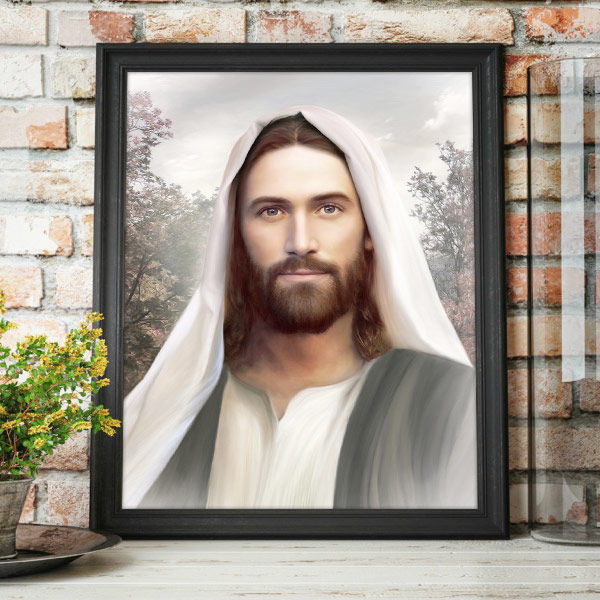 Jesus Christ – Resurrection And The Life – Painting Mockup