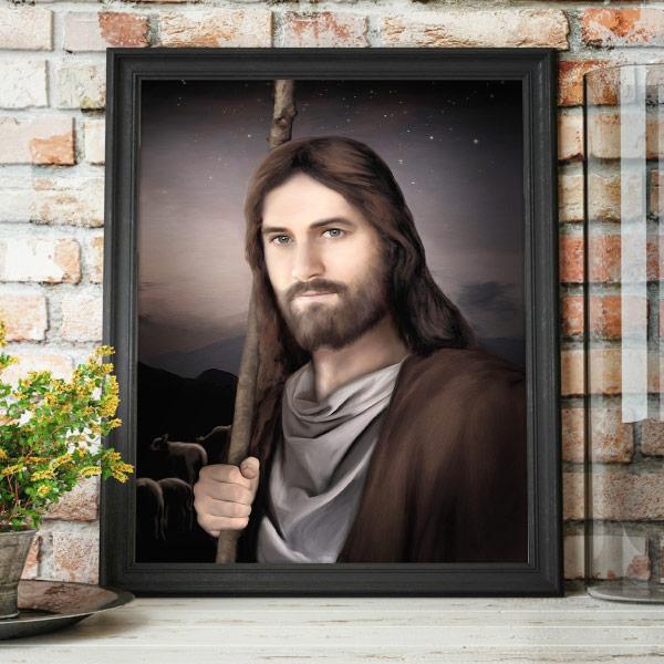 Jesus Christ – Vigilant Shepherd – Painting Mockup