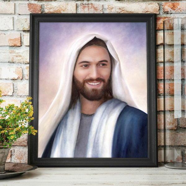 Jesus Christ – Rejoice Painting Mockup