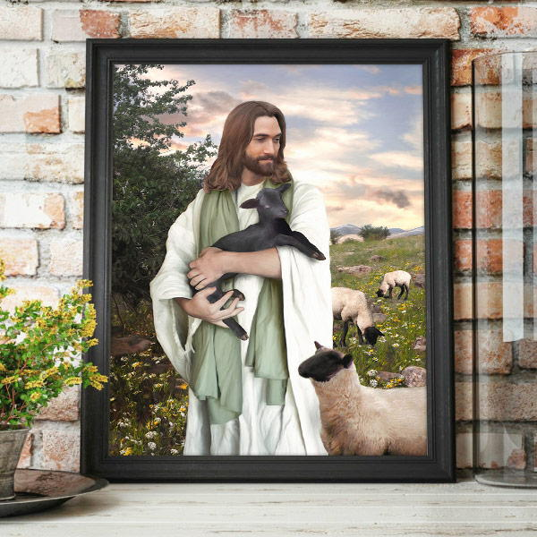 Jesus Christ – Returned to the Fold Painting Mockup