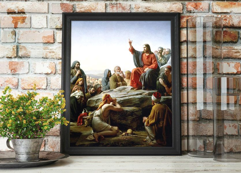 Christ's Sermon on the Mount – Painting by Carl Bloch Mockup