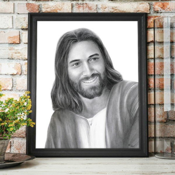 Jesus Christ – That They Might Have Joy Drawing Mockup