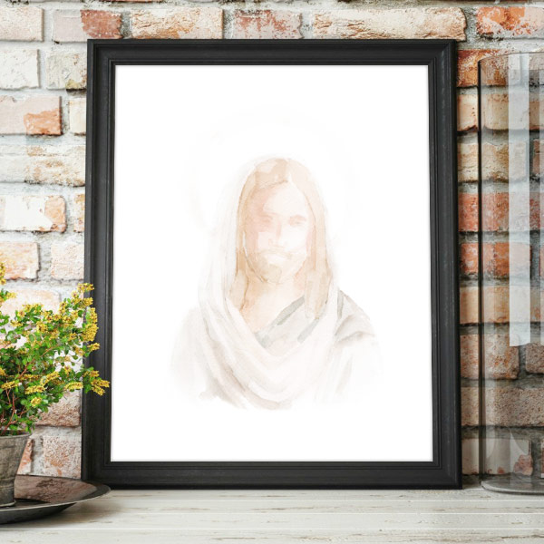 Jesus Christ – Watercolor Painting Mockup
