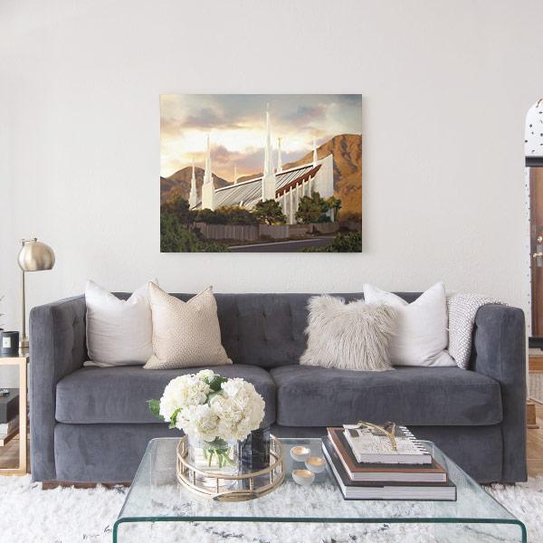 Las Vegas Temple Summer Sunset – Fine Art Painting Mockup