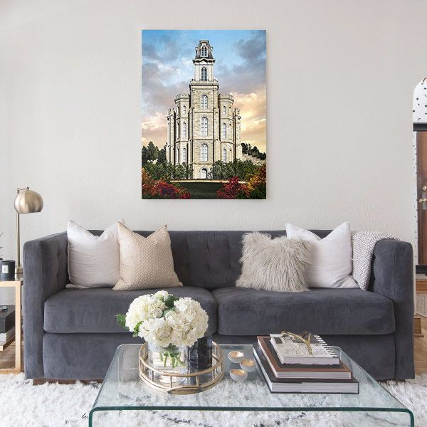 Manti Temple – Tower of the Lord Painting Mockup