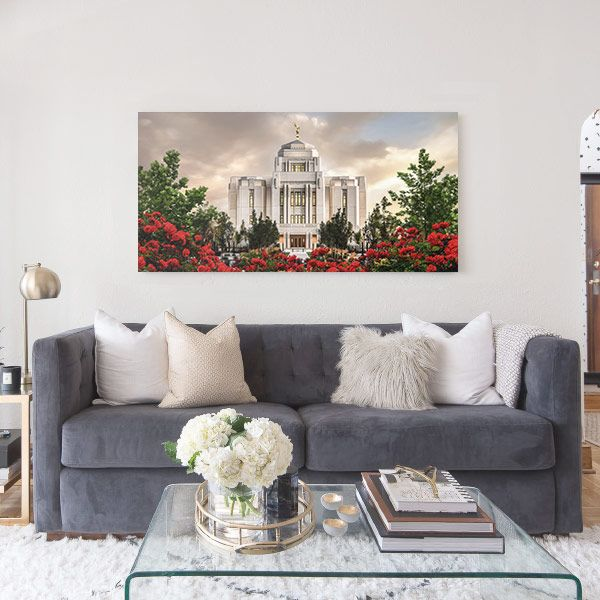 Meridian Temple – Sunrise Painting Mockup