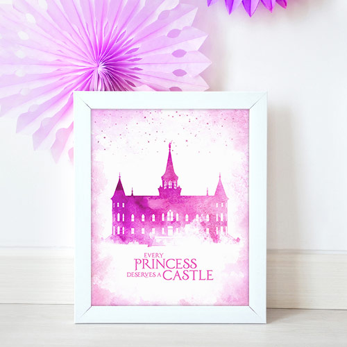 Provo City Center Temple – Princess Castle Mockup