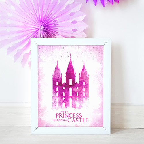 Salt Lake Temple – Princess Castle Mockup