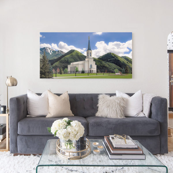 Star Valley Temple – Spring Day Painting Mockup