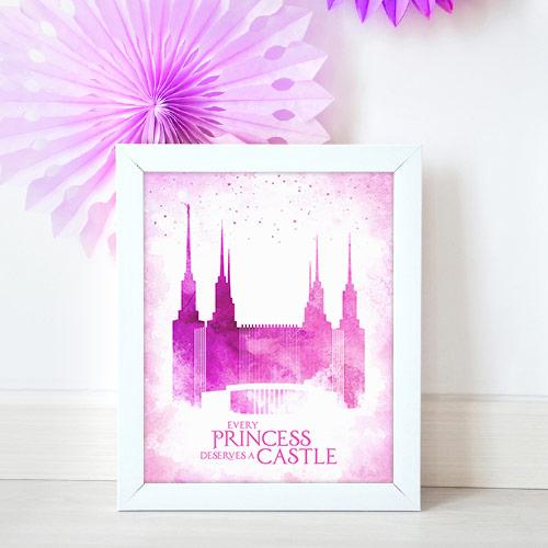 Washington DC Temple – Princess Castle Mockup