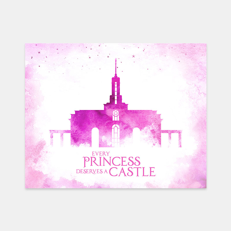 Mount Timpanogos Temple – Princess Castle Print