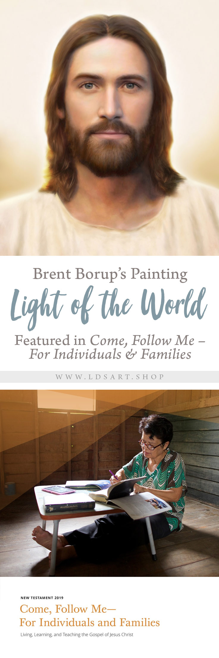 Brent Borup's Christ Painting Featured in