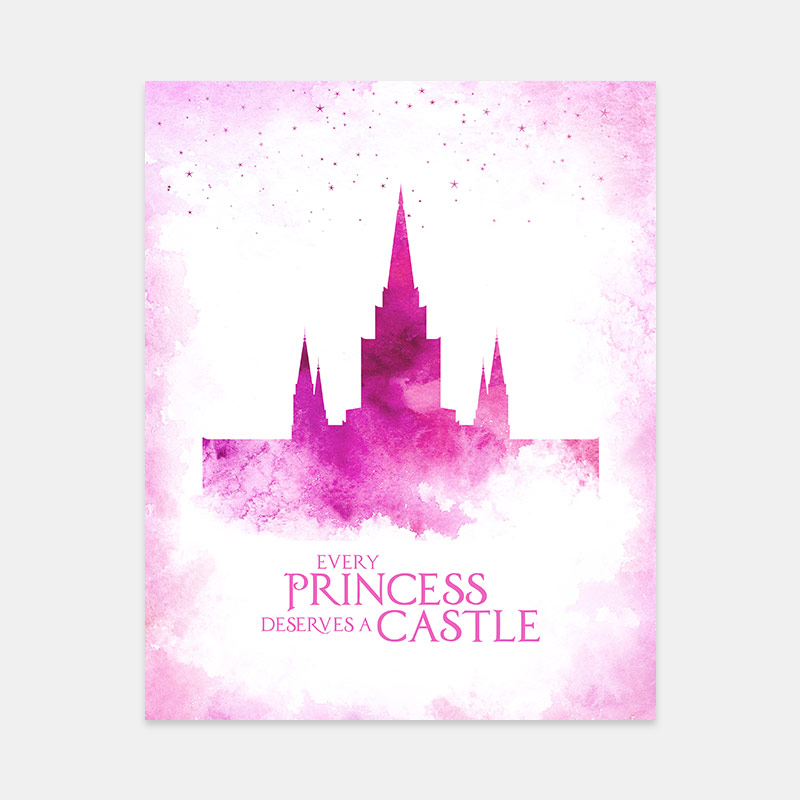 Oakland Temple – Princess Castle Print