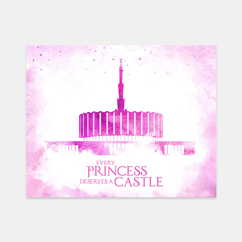 Ogden Utah Old Temple – Princess Castle Print