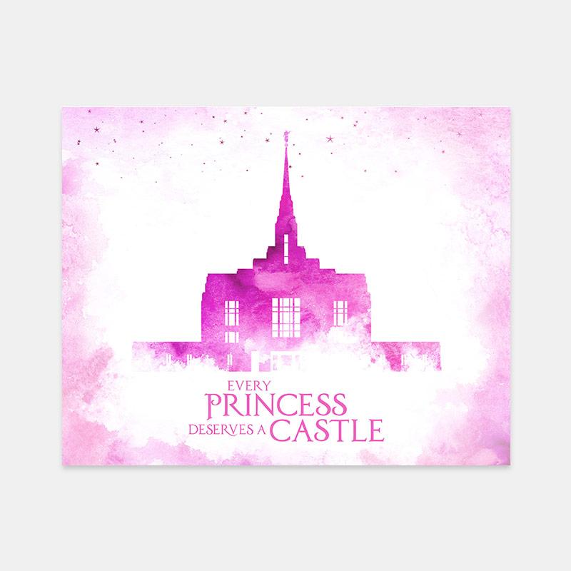Ogden Temple – Princess Castle Print
