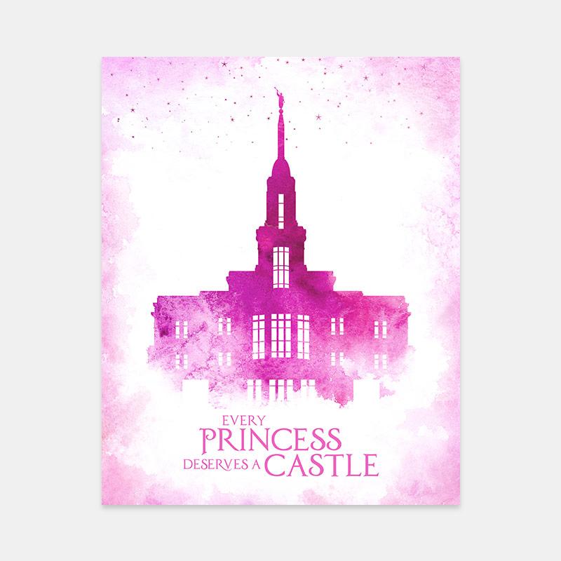 Payson Temple – Princess Castle Print