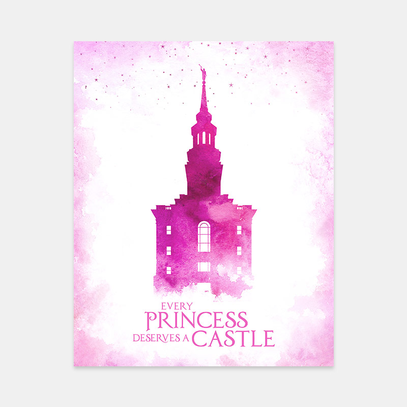 Philadelphia Temple – Princess Castle Print