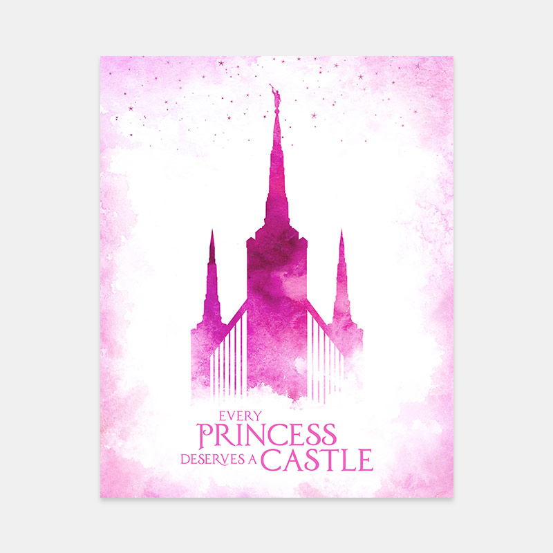 Portland Temple – Princess Castle Print