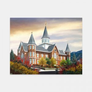 provo-city-center-temple-autumn-morning-painting-by-brent-borup