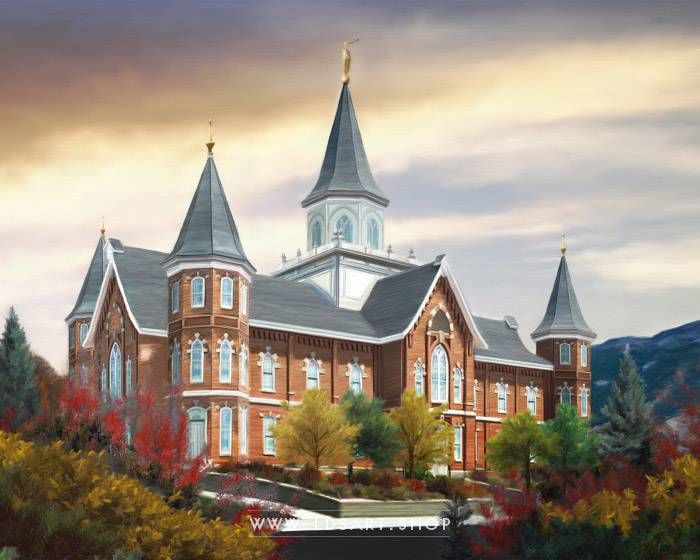 Provo City Center Temple – Autumn Morning Painting Print