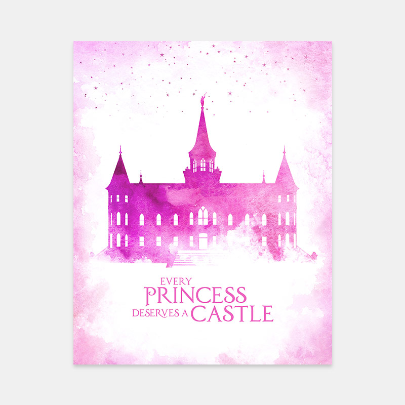 Provo City Center Temple – Princess Castle Print