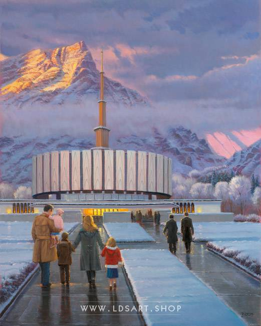 Provo Temple – Fine Art Historical Painting Print