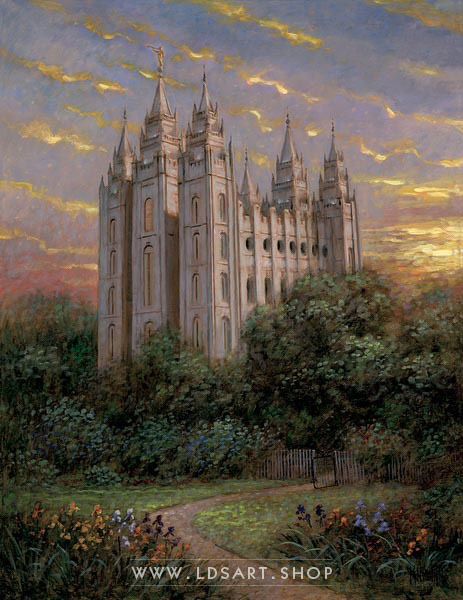 Salt Lake Temple Gate To Heaven – Painting by Jon McNaughton Print