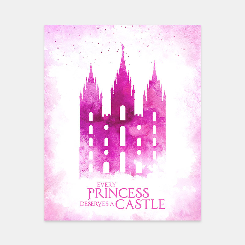 Salt Lake Temple – Princess Castle Print