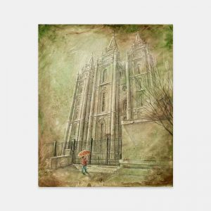salt-lake-temple-spring-child-fine-art-cold-wax-oil-painting
