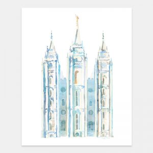 salt-lake-temple-watercolor-painting-blue-by-tausha-coates