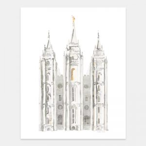 salt-lake-temple-watercolor-painting-gray-by-tausha-coates