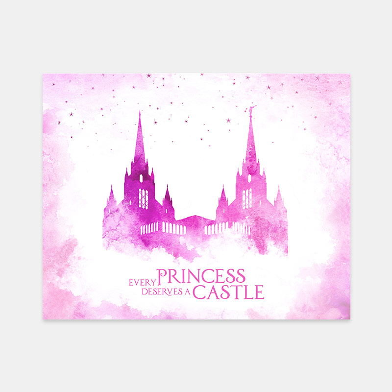 San Diego Temple – Princess Castle Print