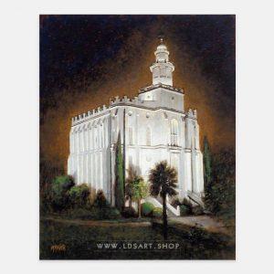 st-george-temple-at-night-by-jon-mcnaughton
