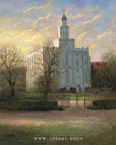 St. George Temple – Painting by Jon McNaughton Print