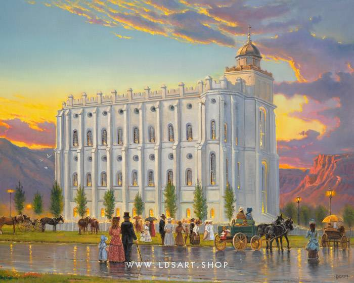 St George Temple – Fine Art Historical Painting Print