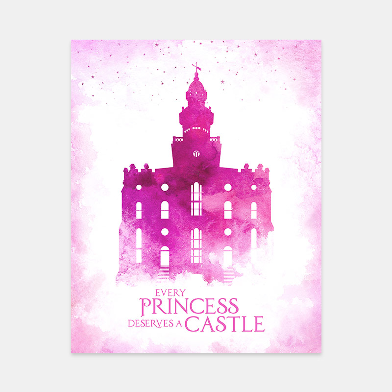 St George Temple – Princess Castle Print
