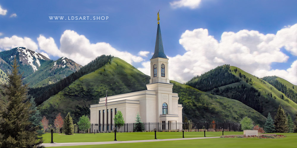 Star Valley Temple – Spring Day Painting Print