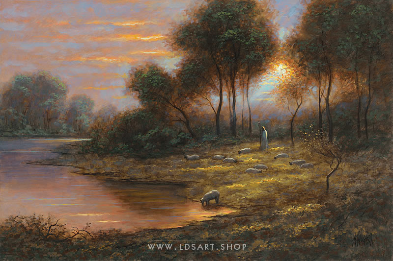 The Good Shepherd – Painting by Jon McNaughton Print